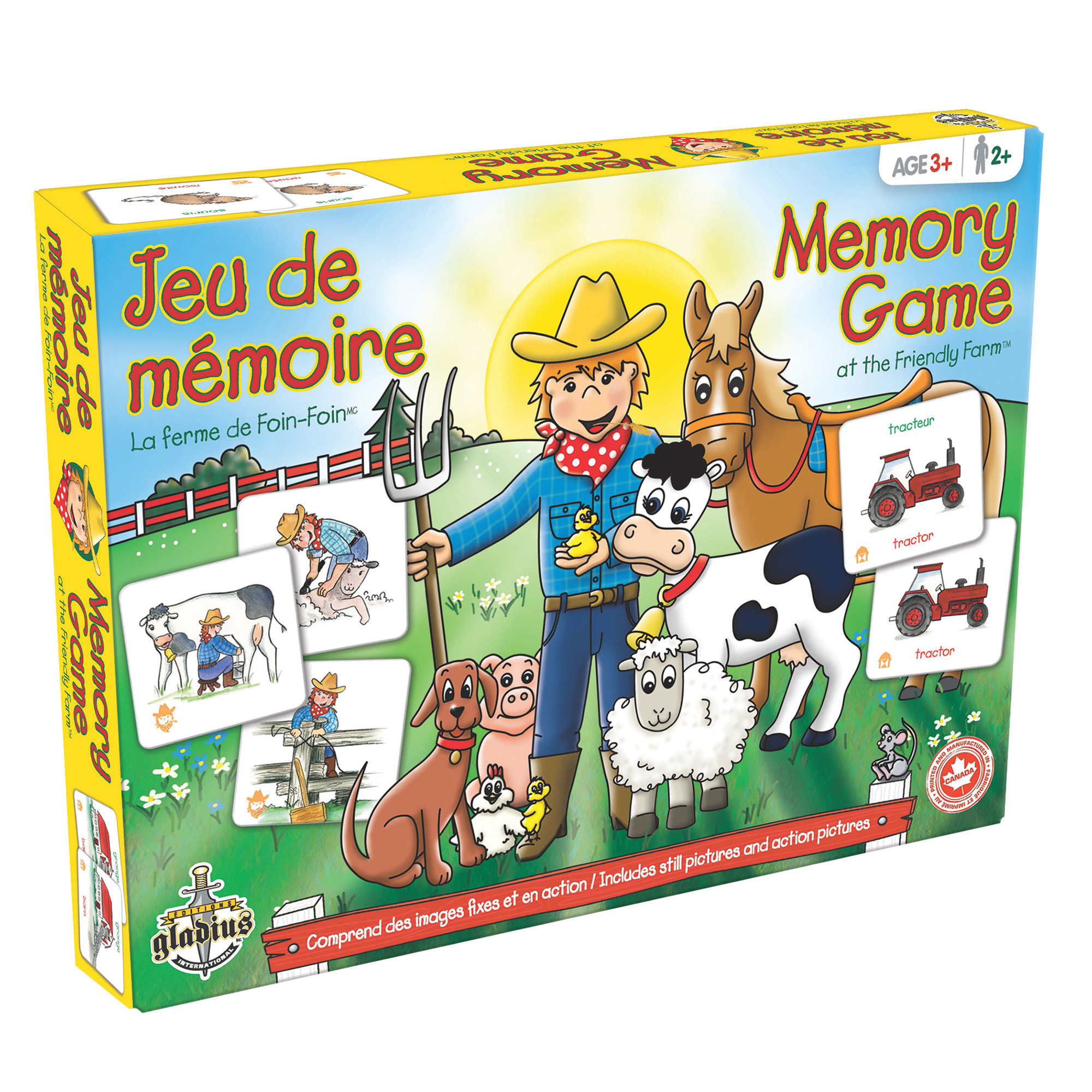 Jeu de mémoire - La Ferme de Foin-Foin boîte / Memory Game - The Friendly Farm box