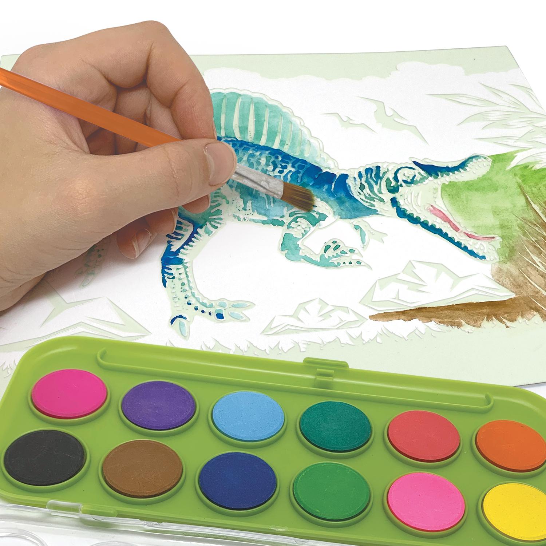 Aquarelle magique DinosArt - Action