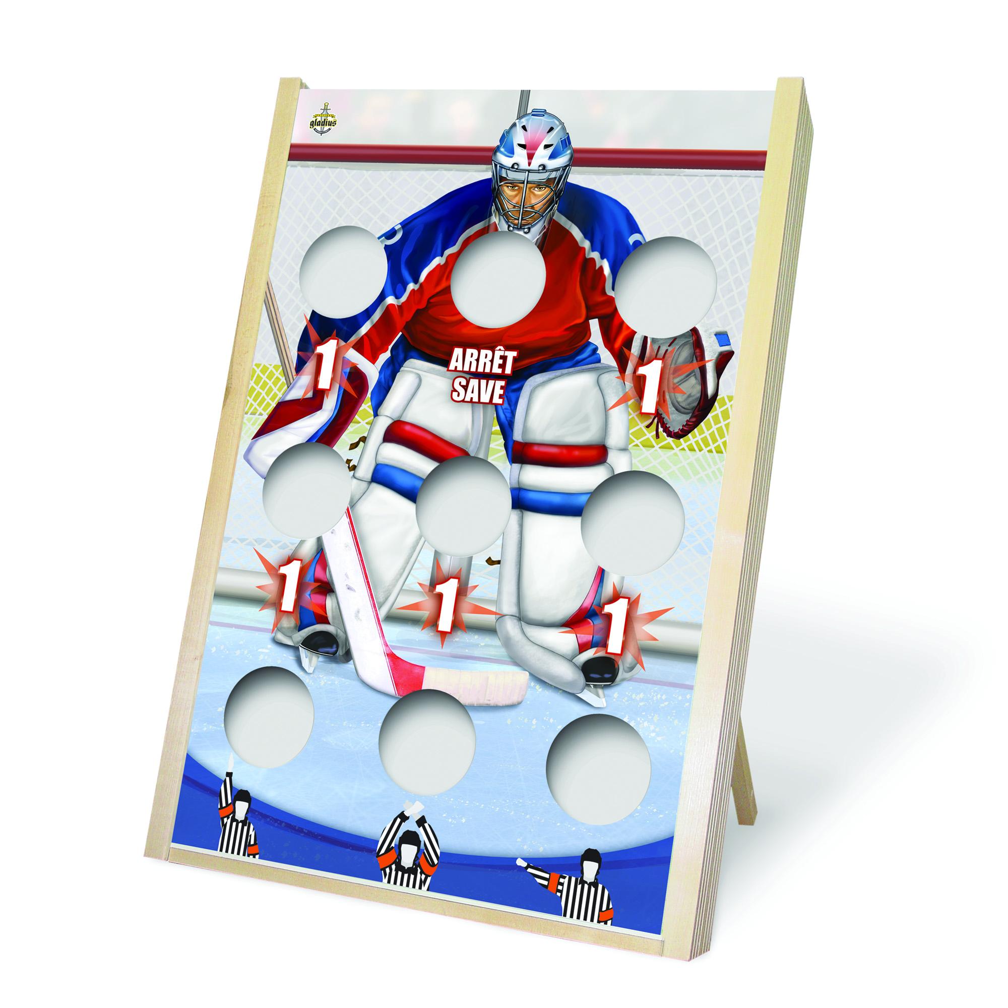 Jeu de poches - Planche hockey